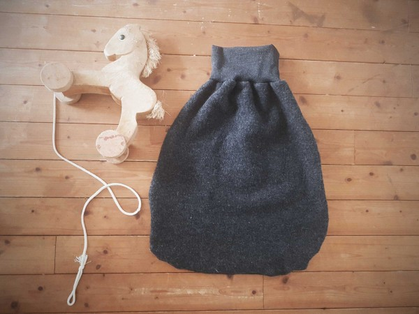 Wollfleece Pucksack Anthrazit
