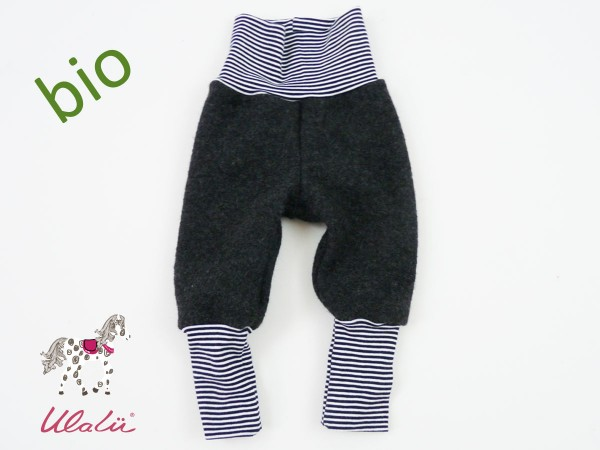 Baby Knickerbocker Wollwalk marine